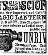 Slide Projector Ad, 1878 Canvas Print