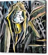 Slipper Foot Gold Canvas Print