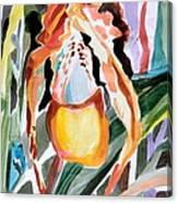 Slipper Foot Tropics Canvas Print