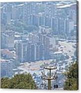 Sliven Bulgaria From Chair Lift Canvas Print