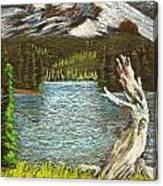 Slumbering Snowcaps Canvas Print