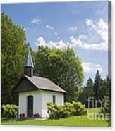 Small Chapel In Bavaria Canvas Print