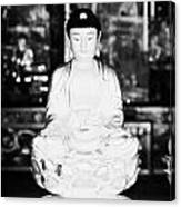Small Golden Buddha Statue In Monastery Of Ten Thousand Buddhas Sha Tin New Territories Hong Kong Canvas Print