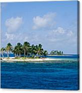 Small Palm Tree Covered Islands In Blue Canvas Print