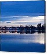 Small Town Reflections Canvas Print