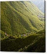 Small Towns In Mountain Canvas Print