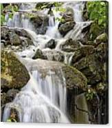 Small Waterfalls And Brook West Bolton Canvas Print
