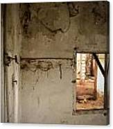 Small Window In An Abandoned Kitchen Canvas Print
