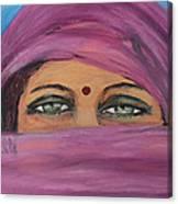 Smile Behind The Veil Canvas Print