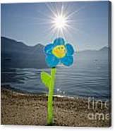 Smile Flower On The Beach Canvas Print