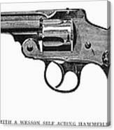 Smith & Wesson Revolver Canvas Print