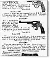 Smith & Wesson Revolvers Canvas Print