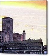 Smith Tower View Canvas Print