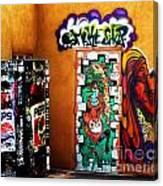 Smoke Shop Grafitti Art  Canvas Print