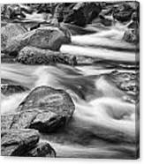 Smokey Mountain Stream Of Flowing Water Over Rocks Canvas Print