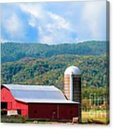 Smokie Mountain Barn Canvas Print
