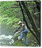 Smoky Mountain Angler Canvas Print