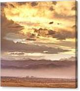 Smoky Sunset Over Boulder Colorado  Canvas Print