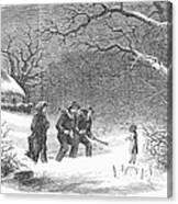Snaring Rabbits, 1867 Canvas Print