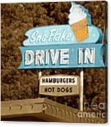 Sno-flake Drive In Lake Tahoe Canvas Print