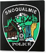 Snoqualmie Police Canvas Print