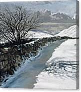 Snow Above Barbondale - Barbon Canvas Print