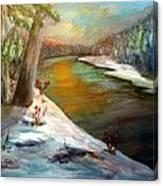 Snow At Sunrise Canvas Print