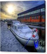 Snow Boat 1.0 Canvas Print