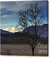 Snow-capped Monte Rosa Canvas Print