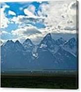 Snow Capped Teton Mountains Canvas Print
