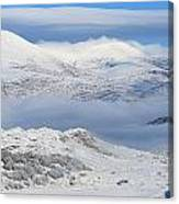 Snow Covered Landscape In Winter Near Canvas Print