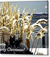 Snow Dust Christmas Card Canvas Print