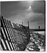 Snow Fence Canvas Print