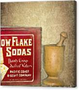 Snow Flake Soda Crackers Canvas Print