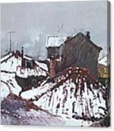 Snow In Elbasan Canvas Print