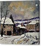 Snow In Gendron Canvas Print