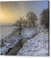 Snow Landscape Sunrise 2.0 Canvas Print
