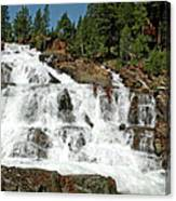 Snow Melt Glen Alpine Falls Canvas Print