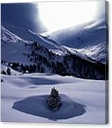 Snow Mountain Austria  Canvas Print