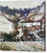 Snow Near Falaise Canvas Print