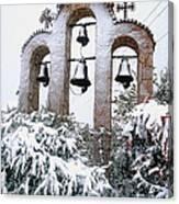 Snow On Campanile Canvas Print