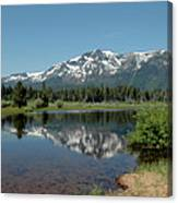 Snow Reflections Mt Tallac Canvas Print