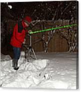 Snow Researcher Canvas Print