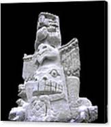 Snow Totem Pole Canvas Print