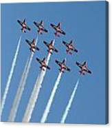 Snowbirds In The Big Diamond Formation Canvas Print