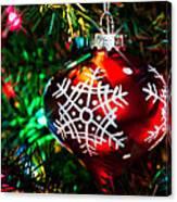 Snowflake Ornament Canvas Print