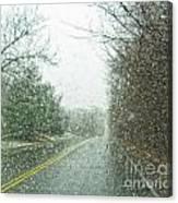 Snowing Morning Canvas Print