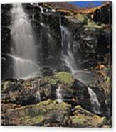 Snowmelt Waterfalls In Tuckermans Ravine Canvas Print