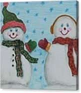 Snowmen 2 Canvas Print