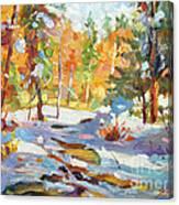 Snowy Autumn - Plein Air Canvas Print